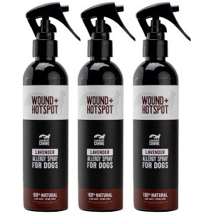 legendary canine 100% natural wound+hotspot spray for dogs white background 3 pack